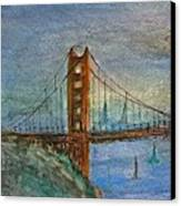 My Golden Gate Bridge Canvas Print by Anais DelaVega