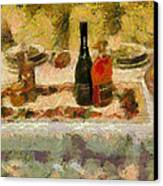 My New Year Dinner  Canvas Print by Yury Malkov