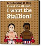 My Rocky Lego Dialogue Poster Canvas Print by Chungkong Art