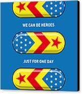 My Superhero Pills - Wonder Woman Canvas Print