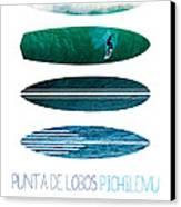 My Surfspots Poster-3-punta De Lobos-chile Canvas Print by Chungkong Art