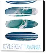 My Surfspots Poster-5-devils-point-tasmania Canvas Print by Chungkong Art