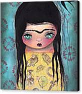 My Yellow Dress Canvas Print by  Abril Andrade Griffith