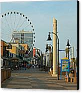 Myrtle Beach Boardwalk Canvas Print
