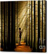 Mysterious Wood Canvas Print by Bedros Awak