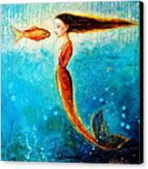 Mystic Mermaid II Canvas Print by Shijun Munns