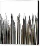 Nails Array Abstract Macro Canvas Print