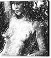 Naked Woman Canvas Print by Tommytechno Sweden