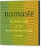 Namaste Canvas Print by Michelle Calkins