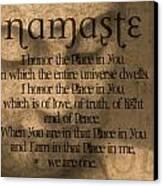 Namaste Orange Canvas Print by Dan Sproul