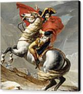 Napoleon Bonaparte On Horseback Canvas Print by War Is Hell Store
