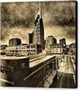 Nashville Grunge Canvas Print by Dan Sproul