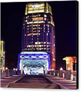 Nashville Sight Night Skyline Pinnacle Panorama Color Canvas Print