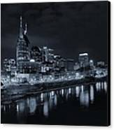 Nashville Skyline At Night Canvas Print
