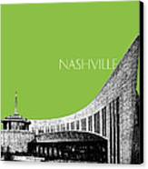 Nashville Skyline Country Music Hall Of Fame - Olive Canvas Print by DB Artist