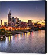 Nashville Skyline Panorama Canvas Print