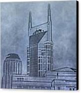 Nashville Skyline Sketch Canvas Print by Dan Sproul