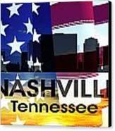 Nashville Tn Patriotic Large Cityscape Canvas Print