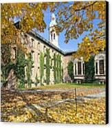 Nassau Hall With Fall Foliage Canvas Print by George Oze