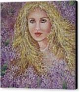 Natalie In Lilacs Canvas Print
