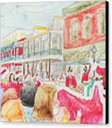 Natchitoches Christmas Parade Canvas Print by Ellen Howell