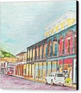 Natchitoches Front Street Canvas Print by Ellen Howell