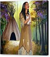 Native American Mother And Child Canvas Print