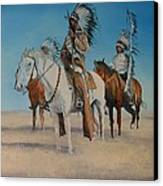 Native Americans On Horseback Canvas Print by Stefon Marc Brown