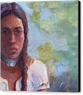 Native Maiden Canvas Print by Gwen Carroll