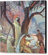 Nativity Canvas Print by Frederic Montenard