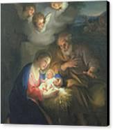 Nativity Scene Canvas Print by Anton Raphael Mengs