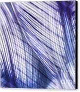 Nature Leaves Abstract In Blue And Purple Canvas Print