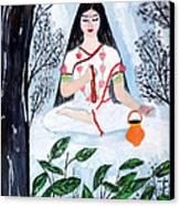 Nava Durga Brahmacharini Canvas Print by Pratyasha Nithin