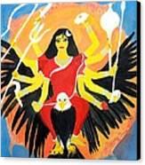 Nava Durga Chandraghanta Canvas Print by Pratyasha Nithin