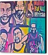 Nba Nuthin' But Africans Canvas Print by Tony B Conscious