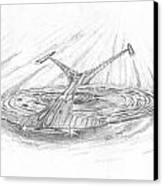 Ncc-1701-j Enterprise Canvas Print