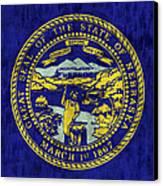 Nebraska Flag Canvas Print by World Art Prints And Designs