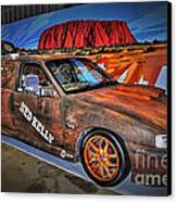 Ned Kelly's Car At Ayers Rock Canvas Print by Kaye Menner
