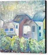 Neighborhood In Light Canvas Print