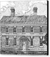 Nelson House In Yorktown Virginia II Of IIi Canvas Print