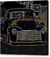 Neon 1948 Chevy Pickup Canvas Print by Steve McKinzie
