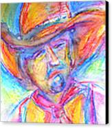 Neon Cowboy Canvas Print by M C Sturman