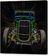 Neon Deuce Coupe Canvas Print