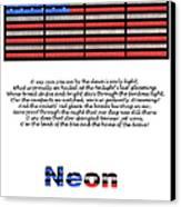 Neon Glory Canvas Print by John Farnan