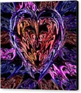 Neon Heart Canvas Print by Anthony Bean