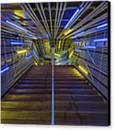 Neon Steps Canvas Print by Akos Kozari