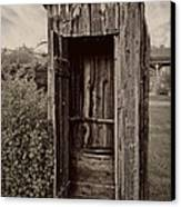 Nevada City Ghost Town Outhouse - Montana Canvas Print