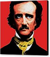 Nevermore - Edgar Allan Poe - Electric Canvas Print by Wingsdomain Art and Photography