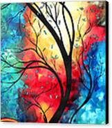 New Beginnings Original Art By Madart Canvas Print by Megan Duncanson