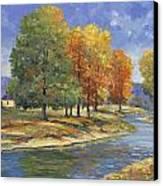 New England Autumn Canvas Print by John Zaccheo